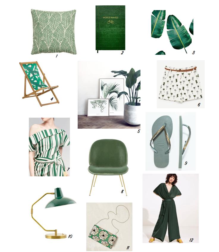 green moodpboard all the little details