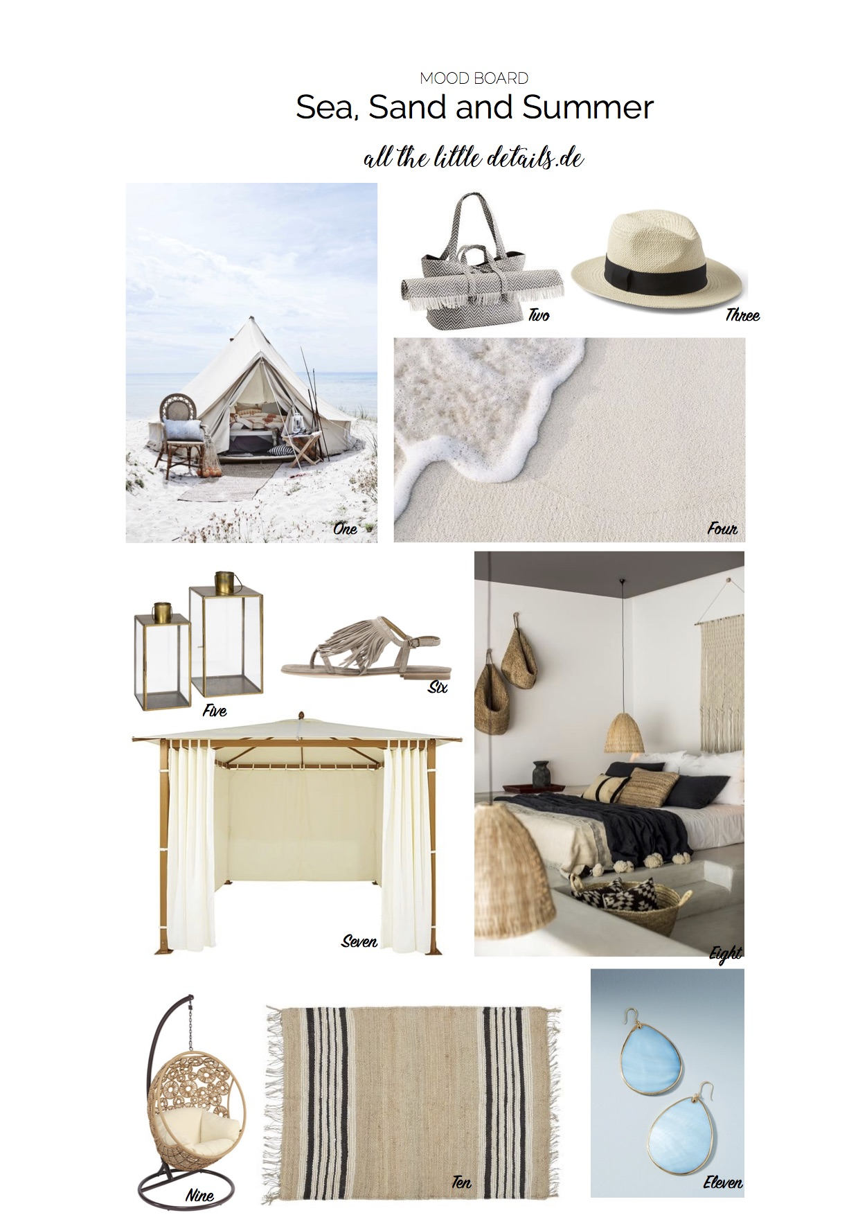 sea, sand and summer mood board allthelittledetails.de